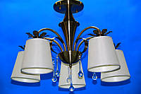 Люстра потолочная на 5 лампочек: (ВЛ)   L29289/5