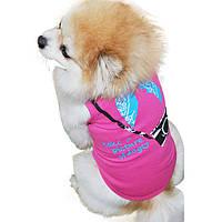 Футболка для собаки маленьких пород Фотограф розовая