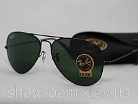 Мужские солнцезащитные очки в стиле RAY BAN aviator (черная оправа), фото 1
