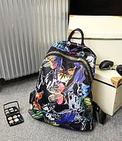 Женские городские рюкзаки с цветами. Молодежные рюкзаки.