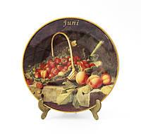 Коллекционная фарфоровая тарелка Июнь, фарфор, König Porzellan, Германия, 1998 год, фото 1