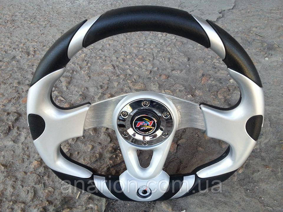 Руль спортивный с термометром №604 (серый)