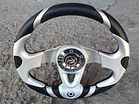 Руль спортивный с термометром №604 (серый), фото 1