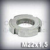 Гайка М22х1,5 оцинкованная ГОСТ 11871-88 круглая шлицевая