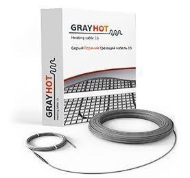Нагревательный кабель двухжильный Gray Hot 15 (92 ВТ) 6м