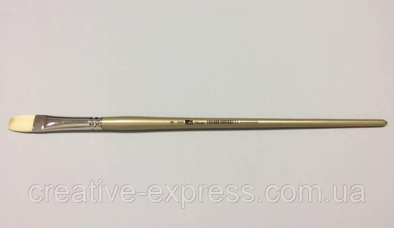Щетина плоска 2402 ART MASTER №8 срібно-золотиста ручка, фото 2