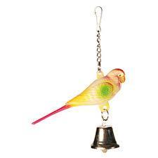 Игрушка попугай с колокольчиком 9см Trixie