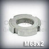 Гайка М68х2 оцинкованная ГОСТ 11871-88 круглая шлицевая