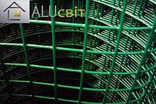 Сварная сетка 50х50 в рулонах с ПВХ 1,5 м х10 метров, для забора, ограждения