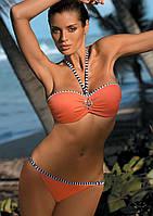 Модный купальник-бандо M 261 RASHEL (размеры S-3XL/XL в расцветках) Оранжевый, S