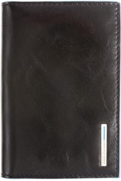 Классическая кожаная обложка для паспорта Piquadro Blue Square AS300B2_N, черный