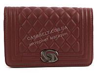 Стильный небольшая качественная лаковая женская каркасная сумочка клатч с ремешком  Suliya art. 938-1 бордо