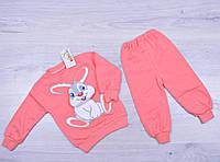"""Костюмчик детский """"Зайчик"""". 3-9 месяцев. Розовый. Оптом."""