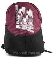 Вместительный качественный рюкзак под брэнд НАЙК art. Рюкзак НАЙК (турция) бордо/черный