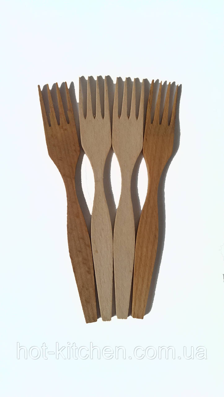 Вилка деревянная малая 16см
