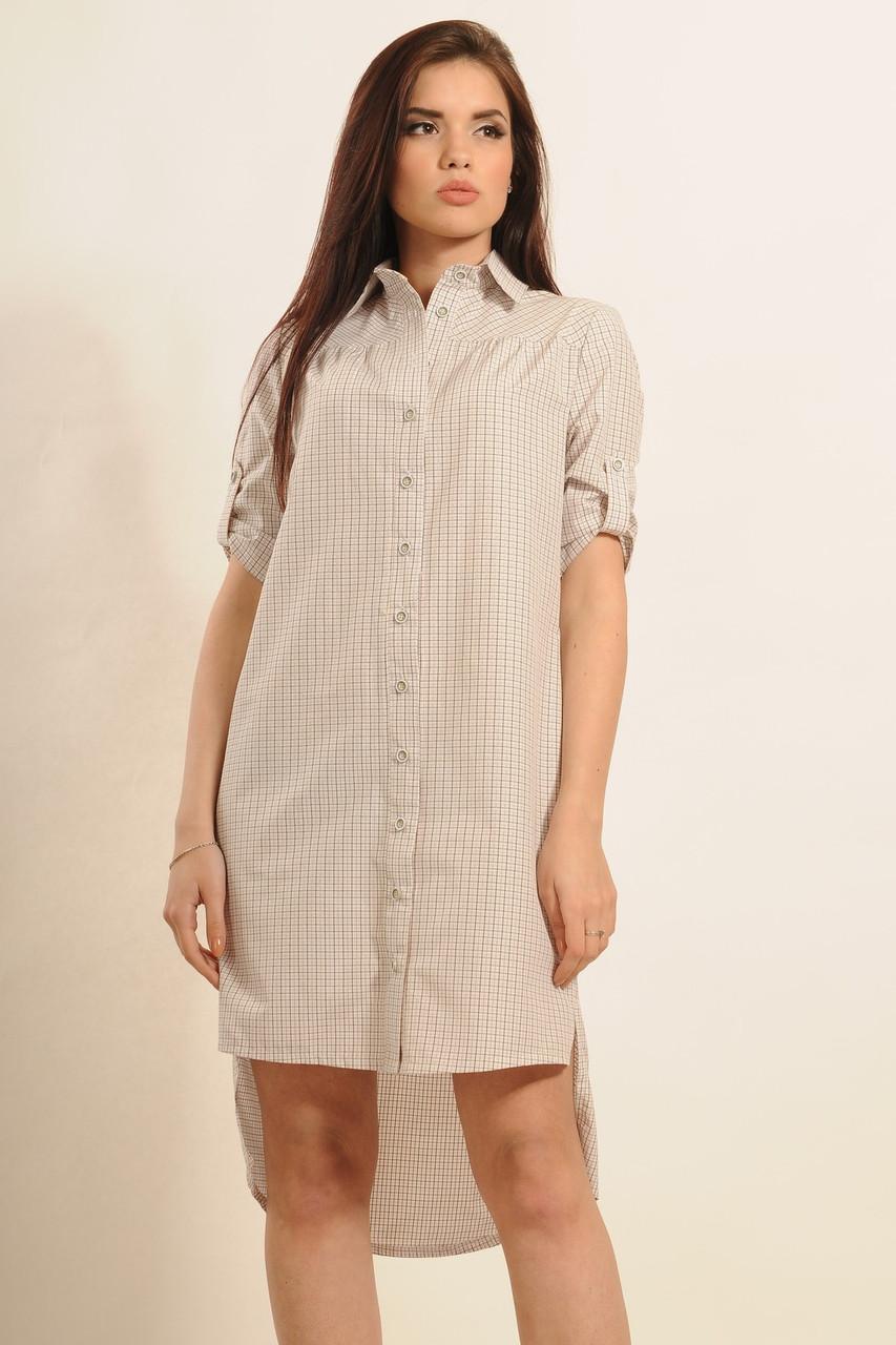 Платье-рубашка Дакота Ri Mari беж