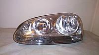 Фара лев 05- хром электр коррект VW Golf V 2003-2008