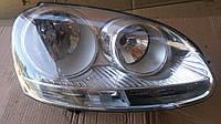 Фара прав 05- хром электр коррект VW Golf V 2003-2008
