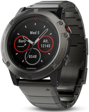 Смарт-годинник Garmin fenix 5X Slate Gray Sapphire with Metal Band, фото 2