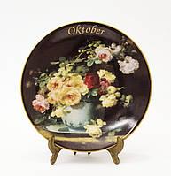 Коллекционная фарфоровая тарелка Октябрь, фарфор, König Porzellan, Германия, 1998 год, фото 1