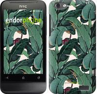 """Чехол на HTC One V t320e Банановые листья """"3078u-227"""""""