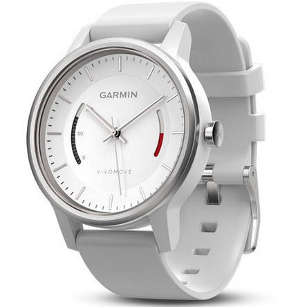 Смарт-годинник Garmin Vivomove Sport White with Sport Band, фото 2