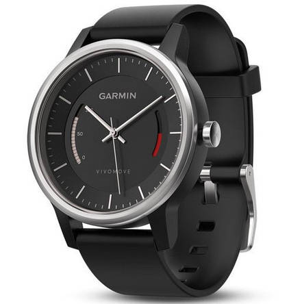 Смарт-годинник Garmin Vivomove Sport Black with Sport Band, фото 2