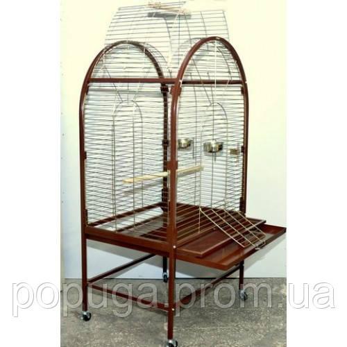 Вольер для крупного попугая с открывающимся верхом (81*60*159 см)