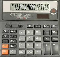 Калькулятор ʺCitizenʺ 16 разрядов. SDC - 760 N. Размер 203,5 х 158