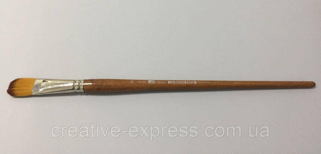Синтетика овальна,№20 , к.р. пензель ART MASTER з коричневою ручкою