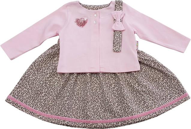 Платье + болеро+ повязка  ТМ Фламинго  размер 74 , фото 2