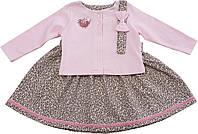 Платье + болеро+ повязка  ТМ Фламинго  размер 74 80 92