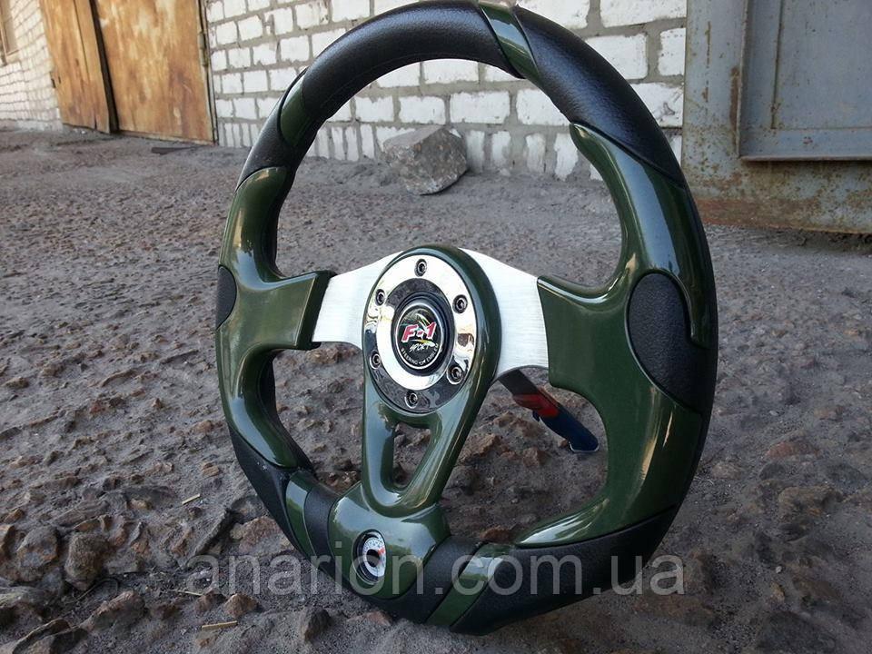 Руль спортивный с термометром №604 (темно зеленый)