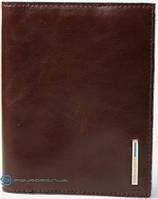 Качественная кожаная обложка для паспорта Piquadro Blue Square PP1660B2_MO, коричневый