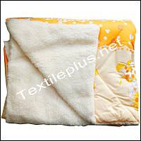 Детское одеяло с открытым мехом