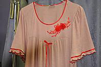 Длинная ночная сорочка женская  Афина для полных, модели размерах 44, 46, 48, 50, 52, 54, 56, 58,60
