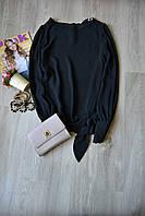 Черная шифоновая блузка New Look