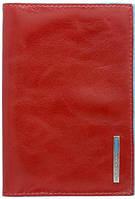 Яркая кожаная обложка для паспорта Piquadro Blue Square AS300B2_R, красный