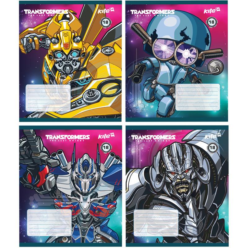 Тетрадь Kite Transformers 18 листов линия TF17-237