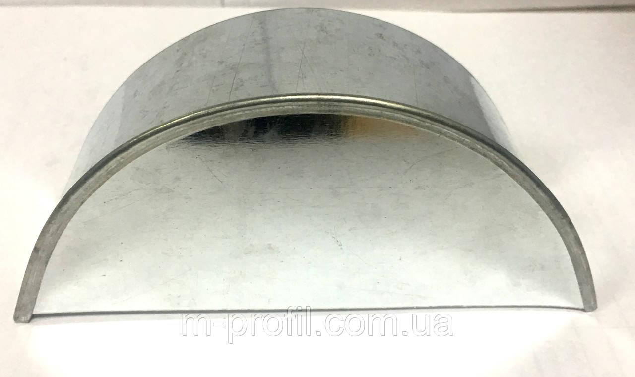 Заглушка для желоба 125мм цинк