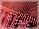 Шерстяной платок с пышной бахромой дыхание лета, красный 120см, фото 6