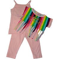 """Летний детский костюм-тройка """"Carnaval"""" , для девочек от 4-5-6 лет (3 ед. в уп.)"""