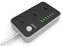 Сетевой фильтр LDNIO 3 розетки 6 USB SC3604 3.4A