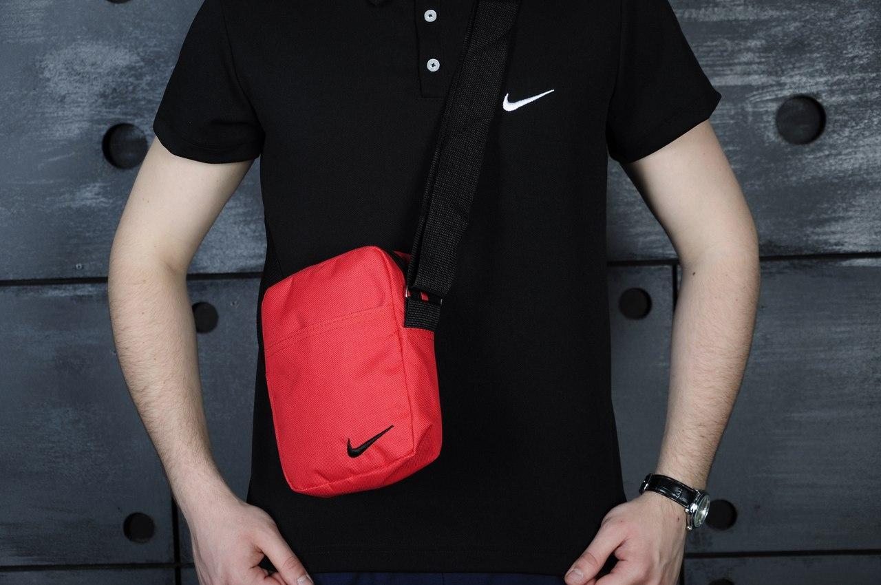 Мужская красная барсетка Nike