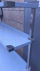 Стол производственный с бортом, двумя верхними и двумя нижними полками, фото 3