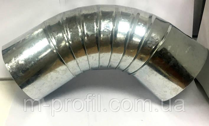 Колено короткое 90°, д-100мм, цинк 0,4 , фото 2