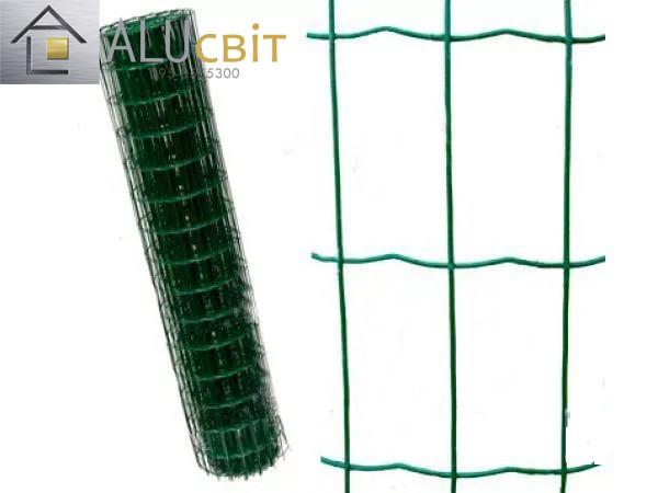 Сварная сетка 50х100 в рулонах с ПВХ 1,5 м х10 метров, для забора, ограждения