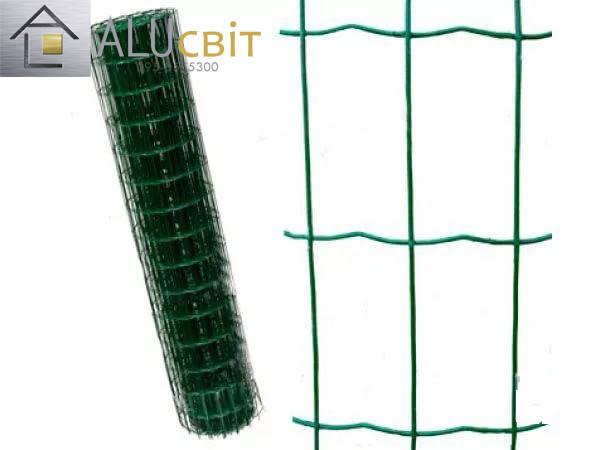 Сварная сетка 50х100 в рулонах с ПВХ 1,5 м х10 метров, для забора, ограждения, фото 2