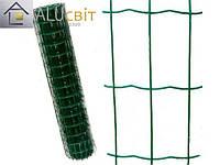 Сварная сетка 50х100 в рулонах с ПВХ 2 м х10 метров, для забора, ограждения