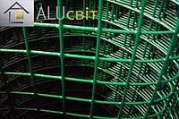 Сварная сетка 50х50 в рулонах с ПВХ 2 м х25 метров, для забора, ограждения